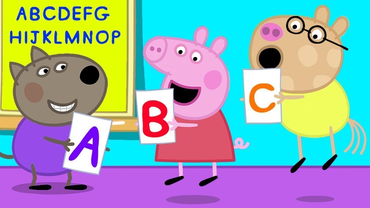 Peppa Pig ABC Song   Learning Alphabet for Children   Nursery Rhymes & Kids Songs