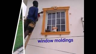 windows and door molding in Jamaica concrete and foam  interior and exterior