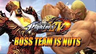BOSS TEAM IS NUTS: King Of Fighters 14 - Online Matches