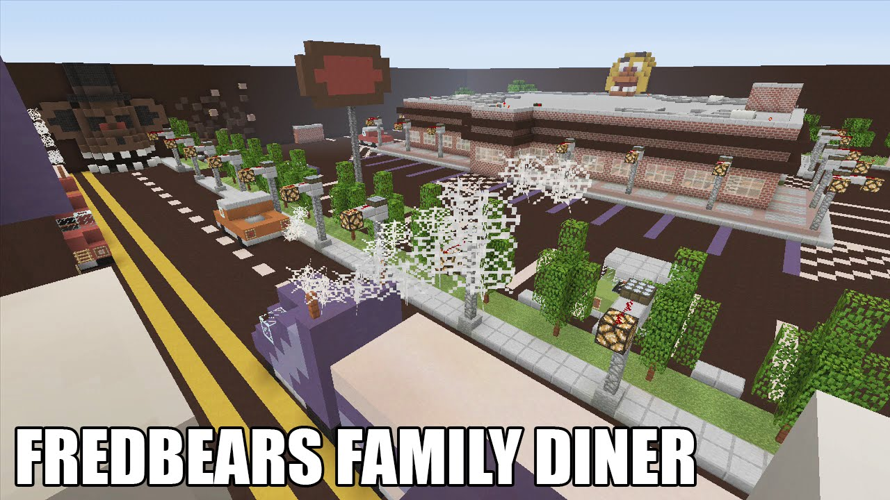 Minecraft fredbear 39 s family diner hide and seek map for Family diner