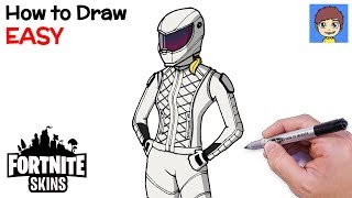 How to Draw Fortnite WHITEOUT Step by Step - Fortnite Skins Drawing