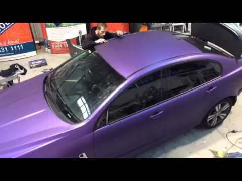 Full Vinyl Car Wrap Matt Metallic Purple Youtube
