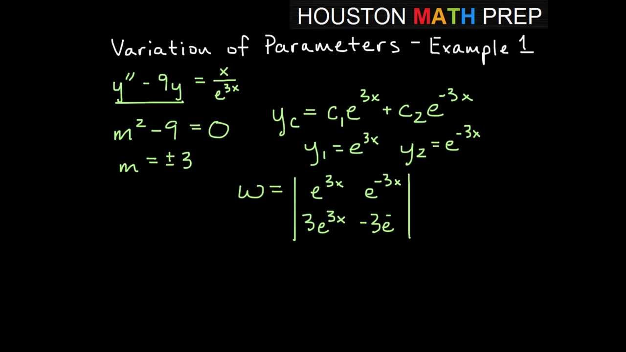 variation of parameters - example 1