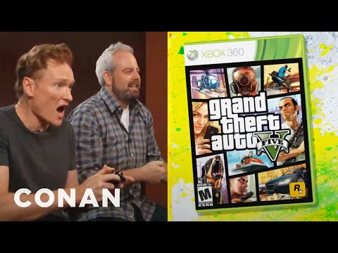 Conan OBrien Reviews Grand Theft Auto V | Clueless Gamer | CONAN on TBS