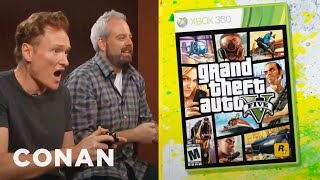 Conan O'Brien Reviews 'Grand Theft Auto V' | Clueless Gamer | CONAN on TBS