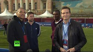 В ожидании Кубка конфедераций: в Санкт-Петербурге прошёл гала-матч с участием звёзд мирового футбола