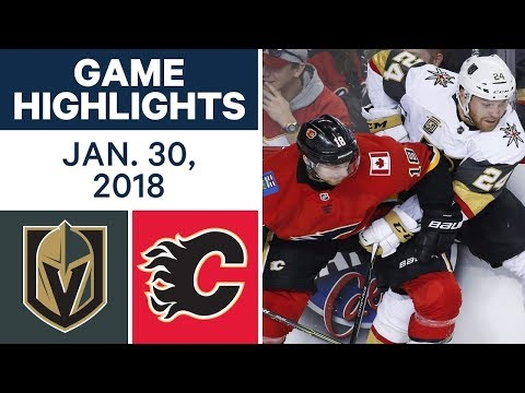 NHL Game Highlights | Golden Knights vs. Flames - Jan. 30, 2018