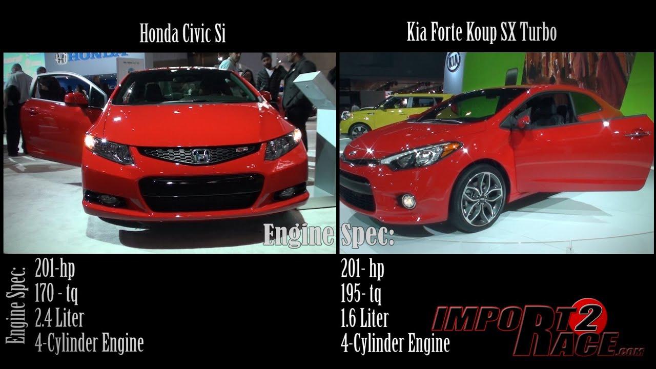 Charming Honda Civic Si Vs Kia Forte Koup SX Turbo