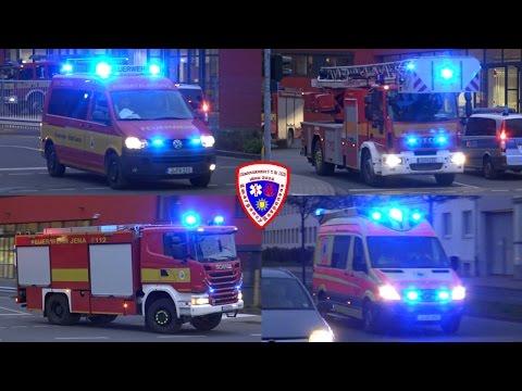 🚨 Löschzug Berufsfeuerwehr Jena GAZ + RTW Ambulance Seifert GmbH