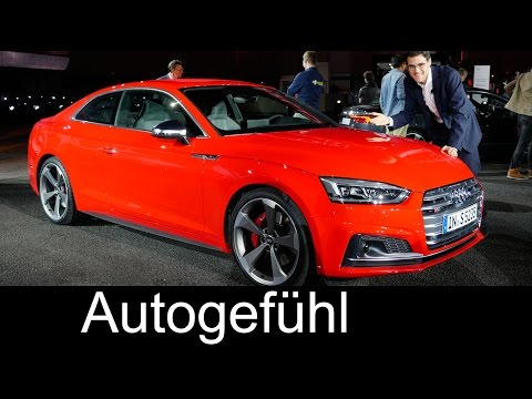 All-new Audi A5 & S5 Coupé WORLD PREMIERE Exterior/Interior Review neu 2017 2016