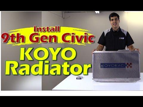 Koyo Radiator Install - 9th Gen Civic Si - 2012 2013 2014 2015 Honda Civic