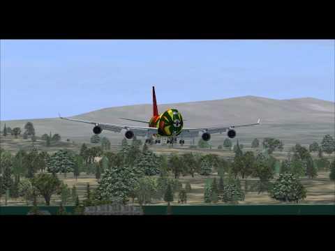 FSX - reykjavik landing 747