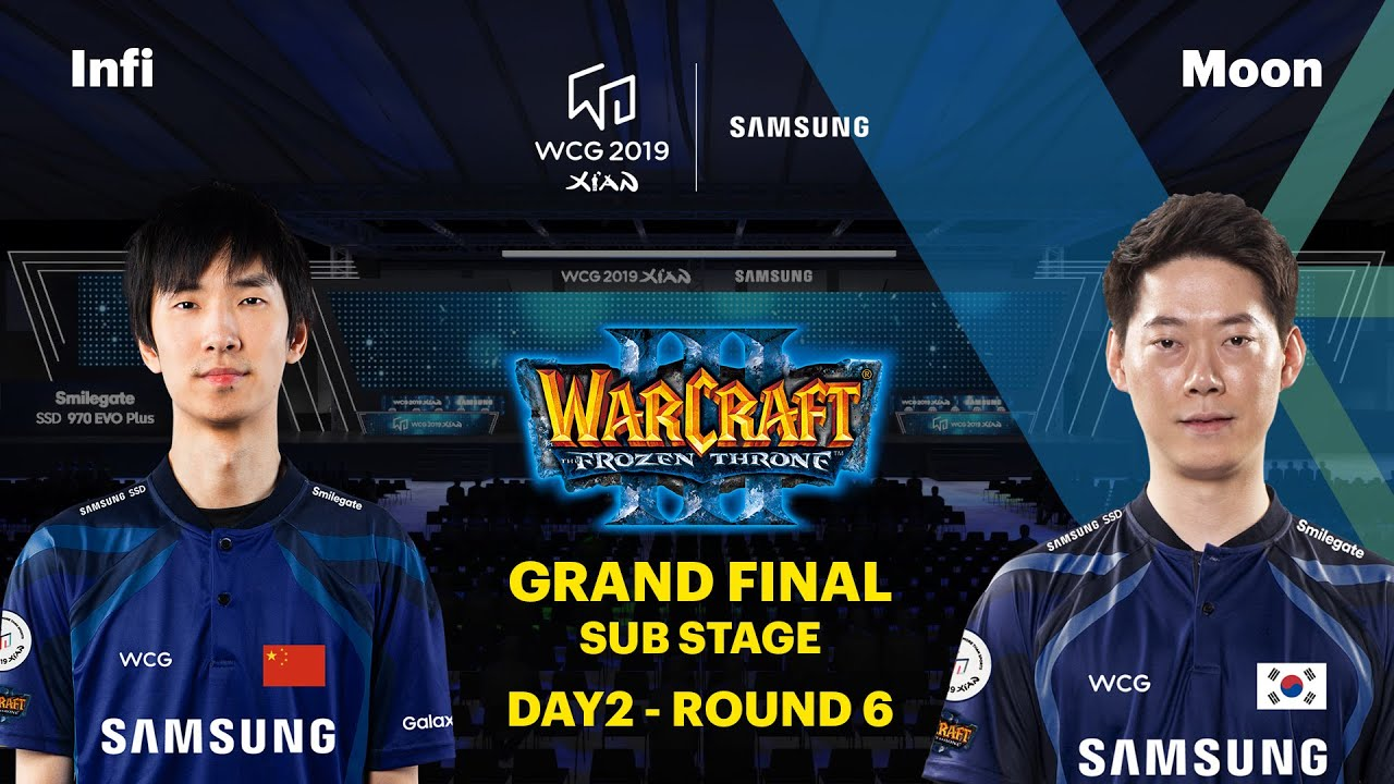WCG 2019 Xi'an Grand Final, Warcraft III Group Stage Round 6, Infi vs Moon