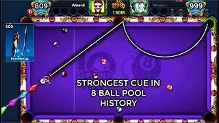 The strongest cue in 8 ball pool  history