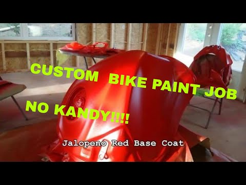 Painting Custom Motorcycle and Illumiglow decals No Kandy