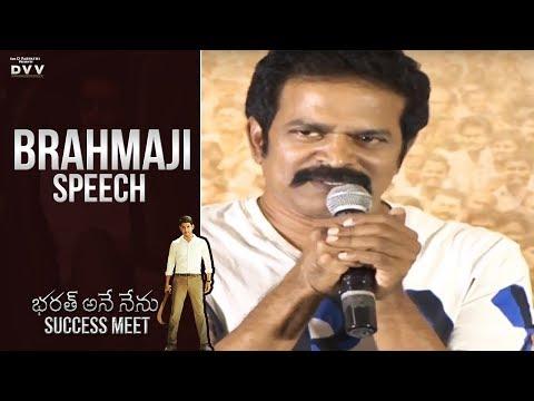 Actor Brahmaji Speech @ Bharat Ane Nenu - CM Bharat's Thank You Meet