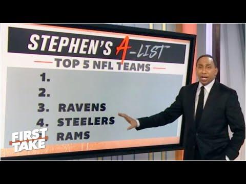 Stephen's A-List: Top 5 NFL teams following Week 7 | First Take