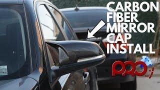 BMW CARBON FIBER MIRROR CAP INSTALL!