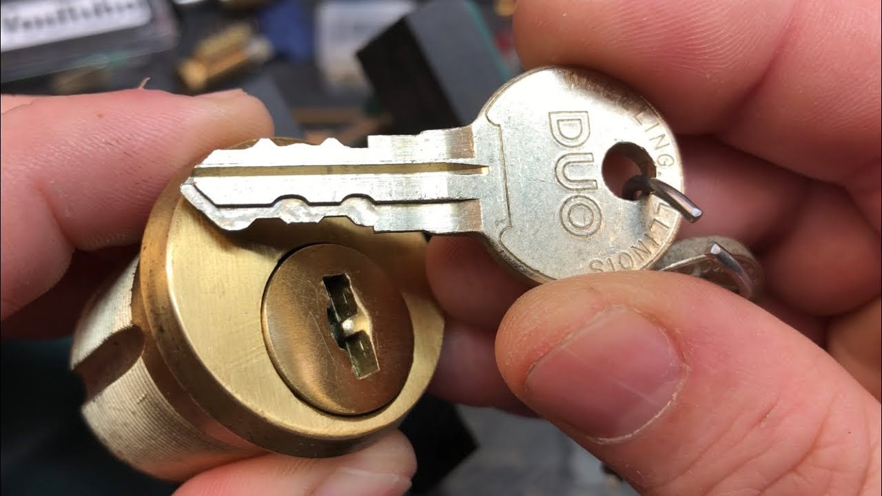 "(124) ILLINOIS Lock ""Chicago"" DUO Mortise Picked & partially disassembled"