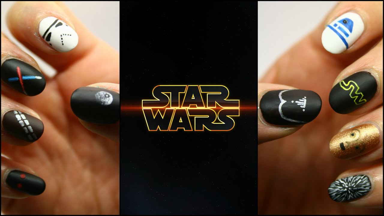 Star Wars - Tutorial nail art 10 in 1 - YouTube