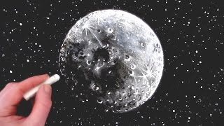 How to Draw the Moon: Narrated step by step