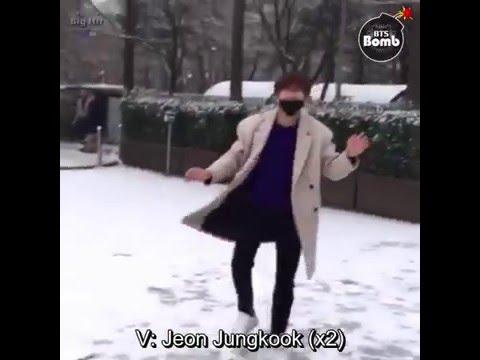 [ENG SUB] Bangtan bomb- Snowball fight Jimin's cam