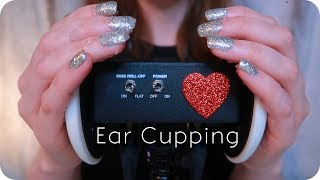 ASMR Ear Cupping // Latex Gloves, Plain, Lotion, & Sugar Scrub (No Talking) for 😴 Sleep & Study 📖