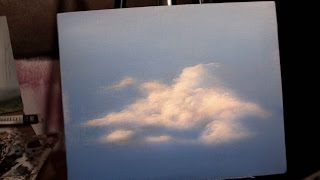 How to paint Acrylic Clouds in the Sky! A basic speed painting tutorial of a cloud.