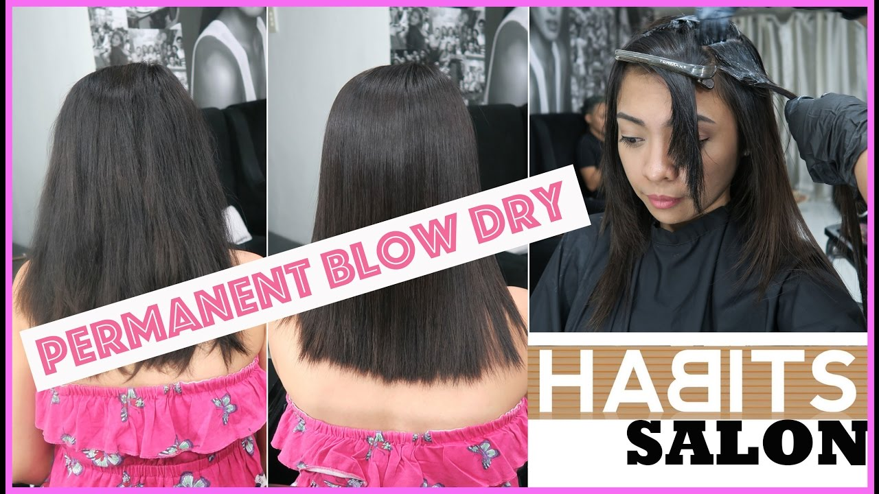 VLOG  33  PERMANENT BLOW DRY at HABITS salon + GIVEAWAY!  506eee2b00