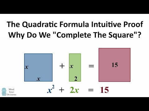 The Quadratic Formula - Why Do We Complete The Square? INTUITIVE PROOF