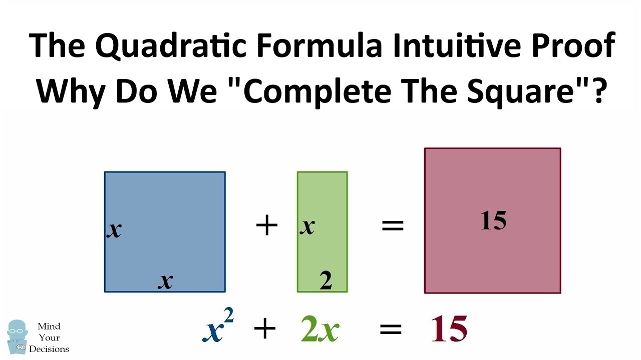 the quadratic formula why do we complete the square intuitive