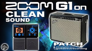 ZOOM G1on CLEAN SOUND G1xon for Direct PA use or Direct Recordings [Som Limpo em Linha].