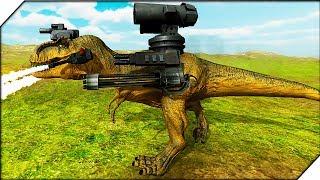 СТРАШНЫЙ ДИНОЗАВР - Игра Beast Battle Simulator #7 Битва животных. Мир юрского периода динозавр рекс