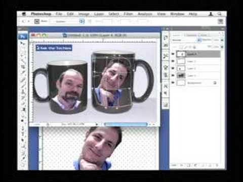 Photoshop: Warping Image Around 3-d Object