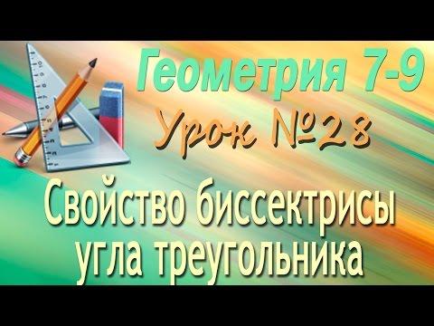 Свойство биссектрисы угла треугольника. Геометрия 7-9 классы. Урок 28