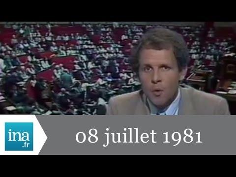 20h Antenne 2 du 08 juillet 1981 - Pierre Mauroy devant l'Assemblée - Archive INA