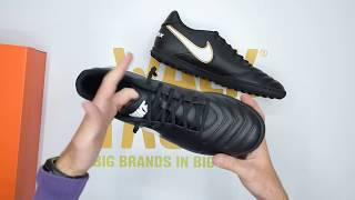 Cubeta suficiente Anguila  Nike TiempoX Rio III TF - Black White - Unboxing | Walktall - YouTube