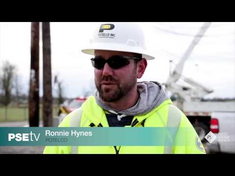 PSE-TV: Winds Calming, Crews Able to Work More Quickly in King County