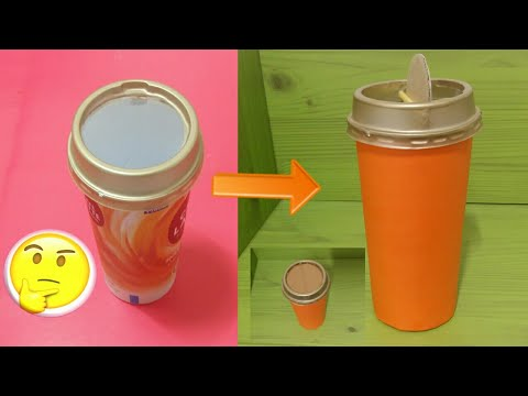 How to Reuse Waste Coffee Cups / Trash Bin / 폐 커피 컵 재사용 방법| DIY Craft and Art #108