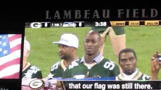 Esera Tuaolo Singing The National Anthem, Pack vs. Seahawks 9-20-15