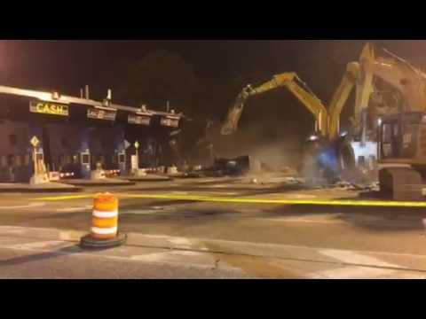 Toll Booth Demolition at Verrazano-Narrows Bridge