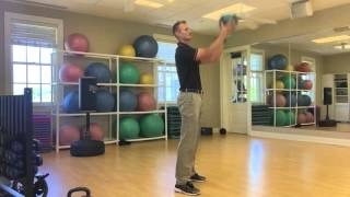 golf workout with Medicine ball power exercises for longer drives.