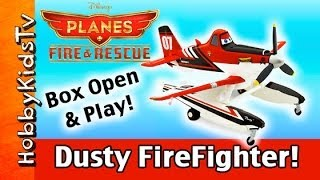 NEW Disney Planes Fire Rescue DUSTY Firefighter! Play with HobbyKid Die-cast Toy Review HobbyKidsTV