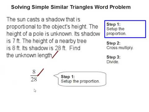 solving simple similar triangles word problem youtube. Black Bedroom Furniture Sets. Home Design Ideas