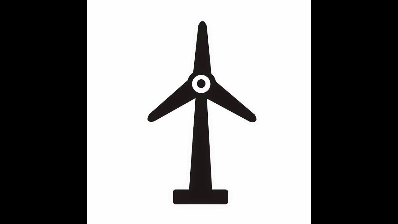 Wind Turbine Icon Youtube