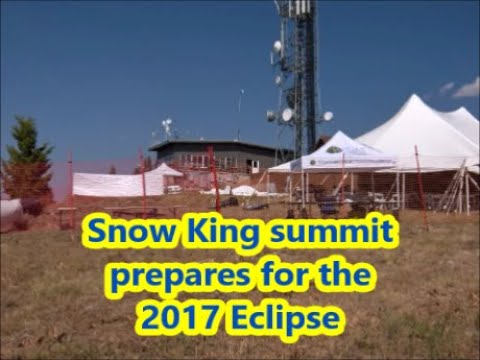Snow King summit before and after the total eclipse