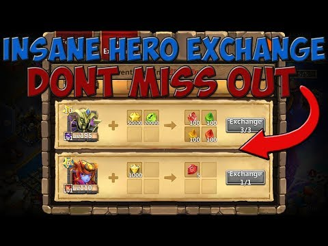 Castle Clash / Insane Hero Exchange / Don't Miss Out