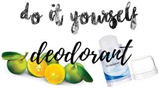 Do It Yourself Deodorant [Pampaputi na ng kili kili, pang tanggal pa ng putok]