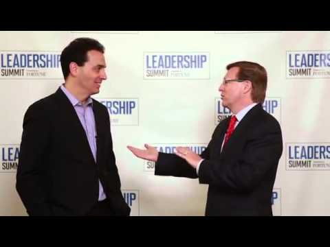 """Drive"" Author Dan Pink Interview with Verne Harnish  Fortune Leadership Summit 2013"