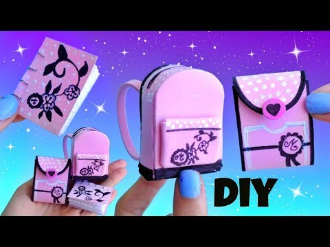 DIY MARINETTE MINIATURES SCHOOL SUPPLIES | Miraculous Ladybug Part 2